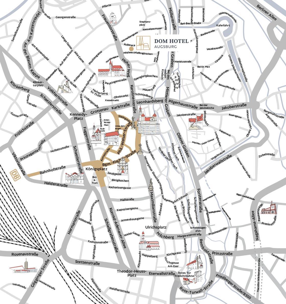 Straßenplan Dom Hotel